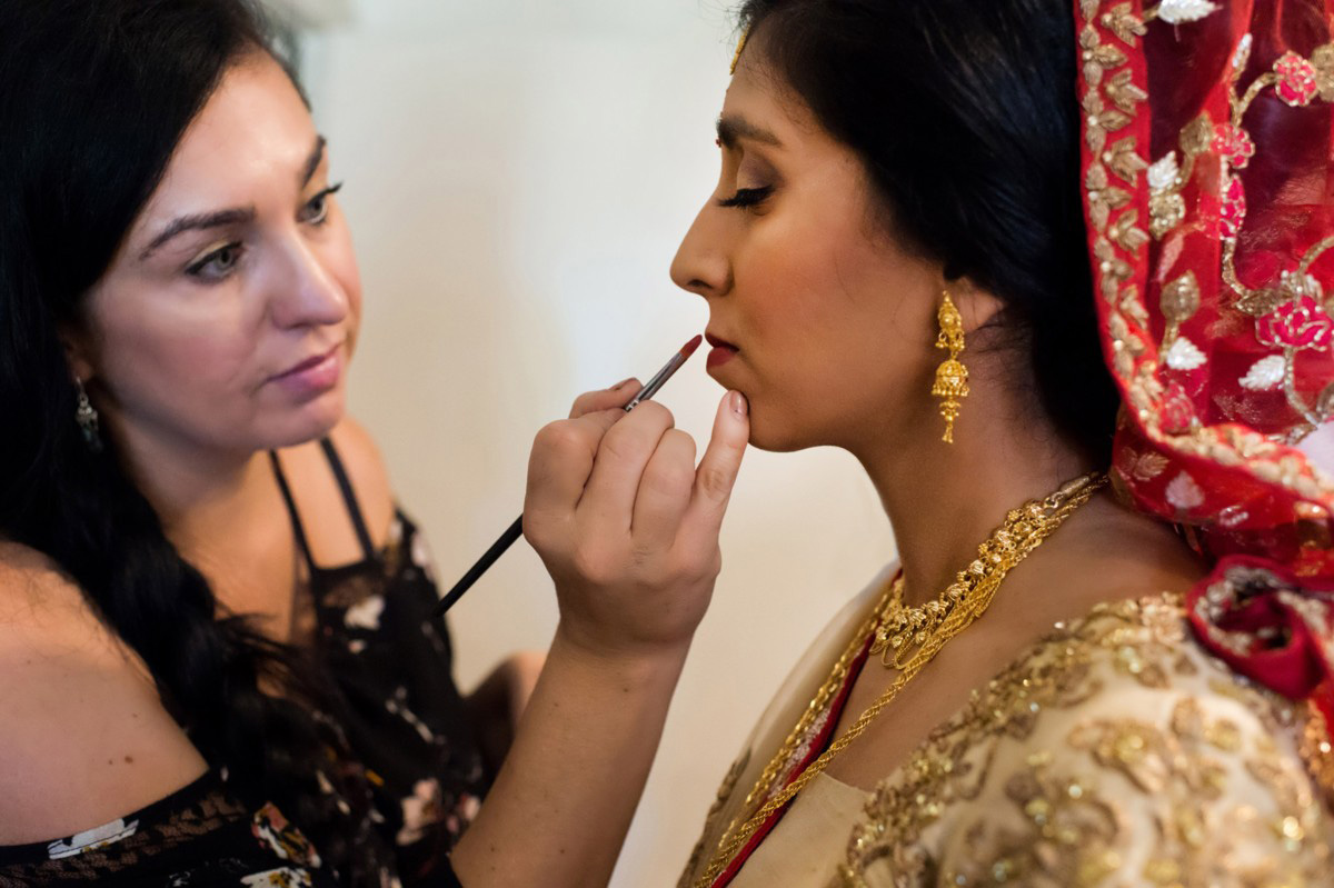 Lake Tahoe Indian wedding bride makeup