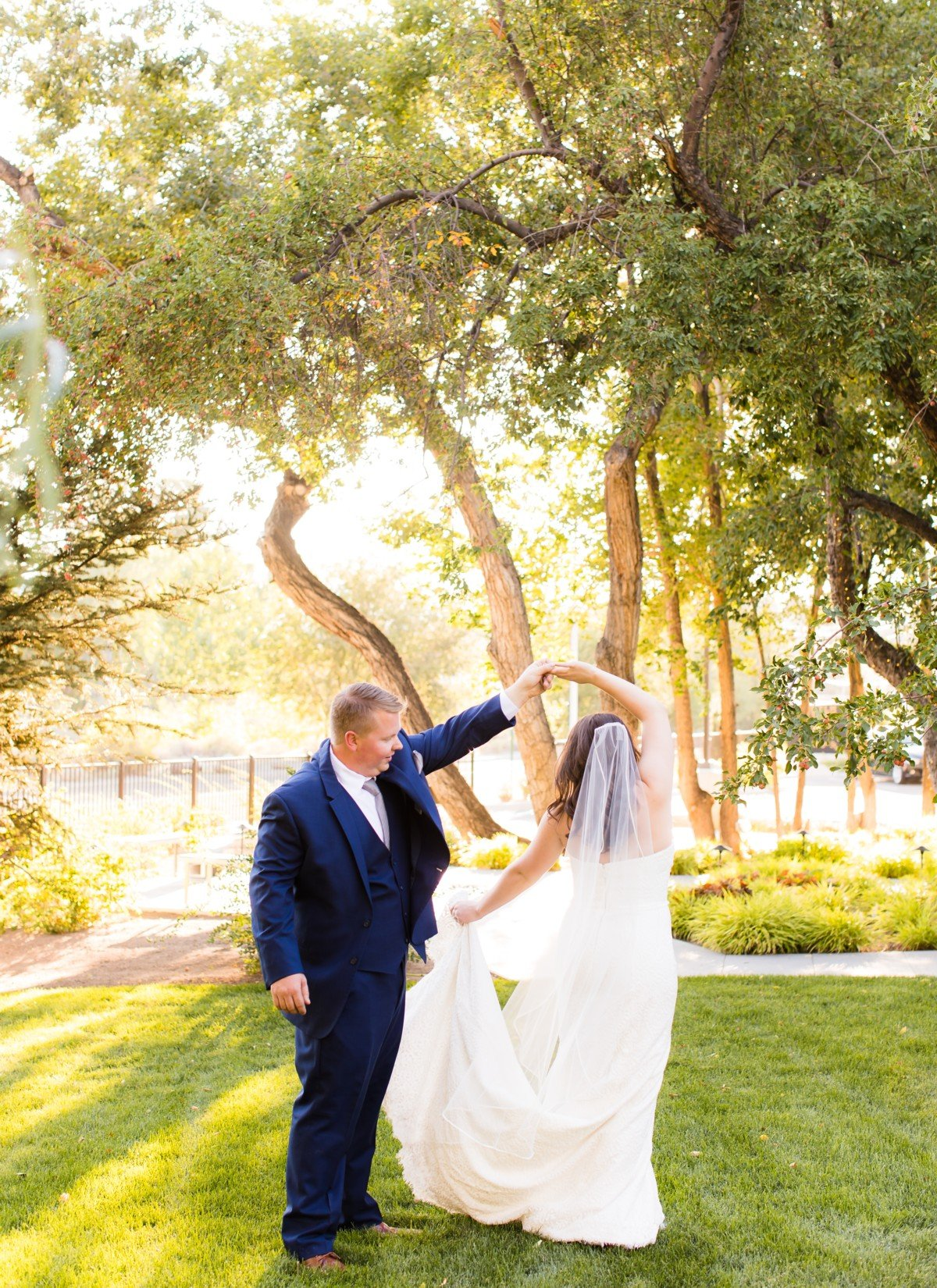 B&B Photography Lake Tahoe wedding - private dance in the woods