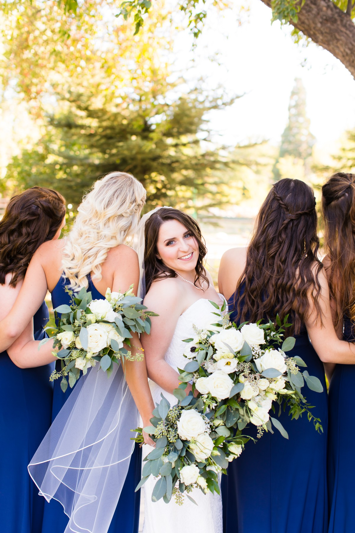 B&B Photography Lake Tahoe wedding - bride with bridesmaids