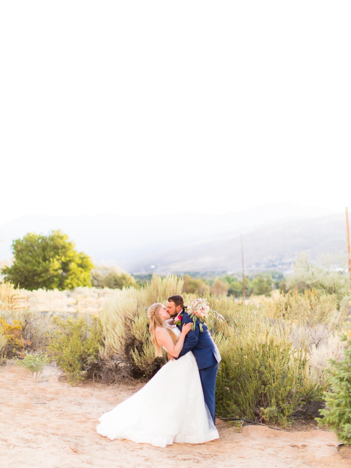 B&B Photography Lake Tahoe wedding - couple kissing