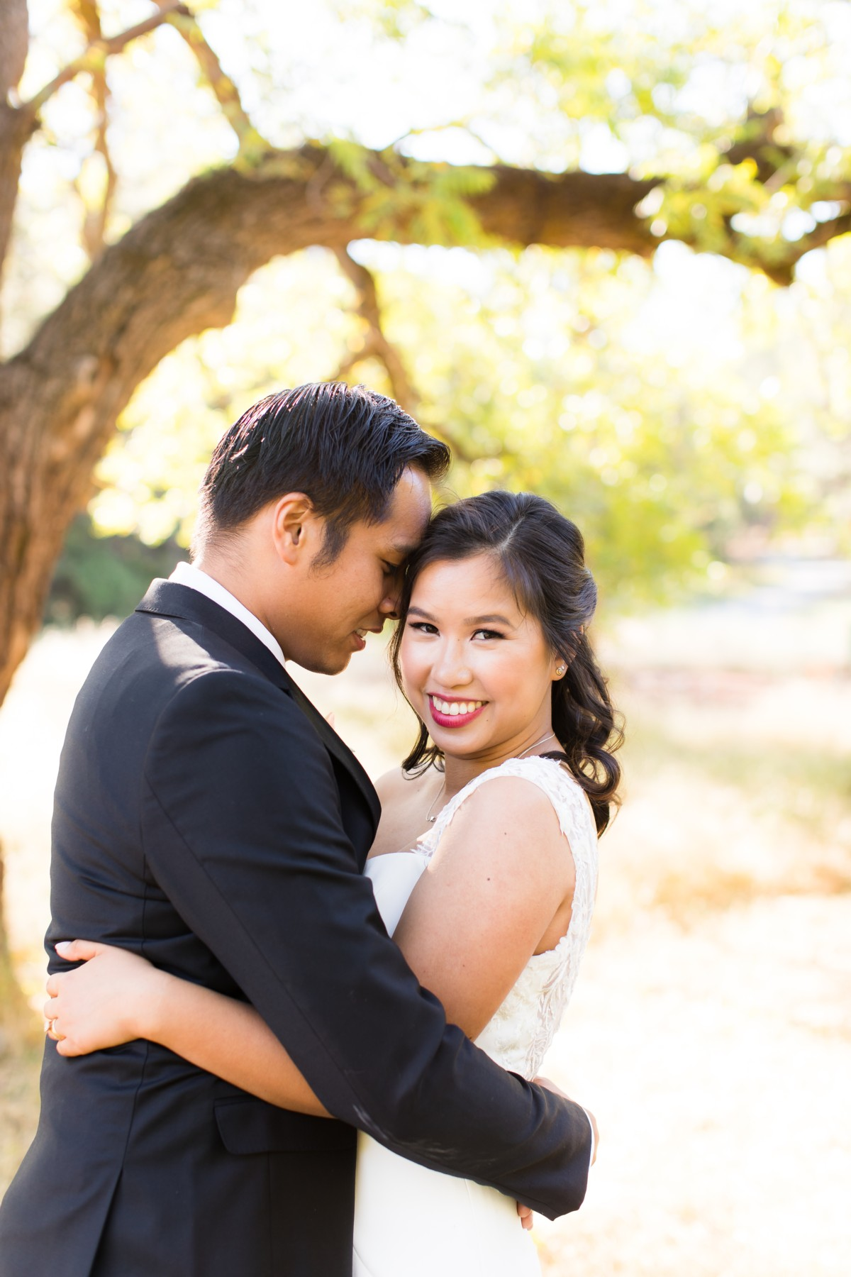 B&B Photography Lake Tahoe wedding - couple in private moment together