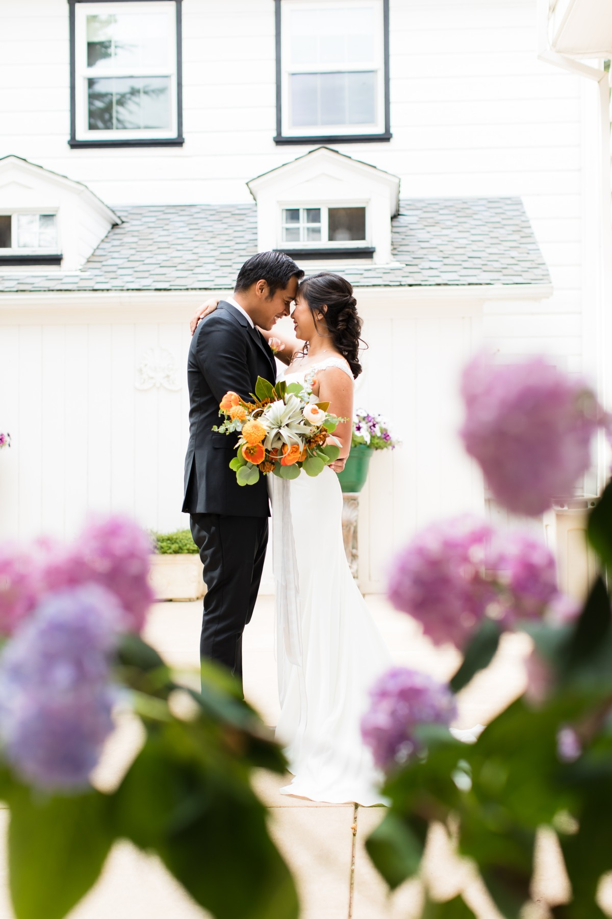 B&B Photography Lake Tahoe wedding - couple embracing