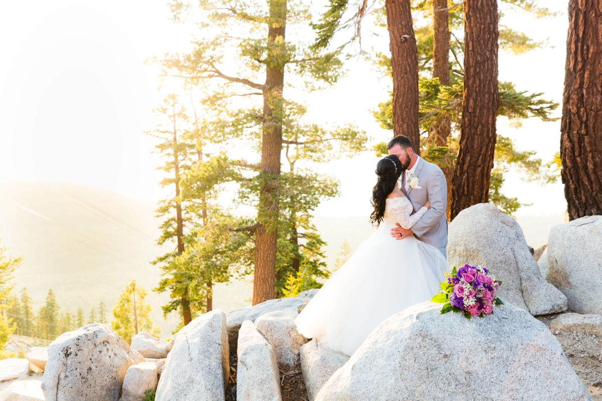B&B Photography Lake Tahoe wedding - couple in mountains