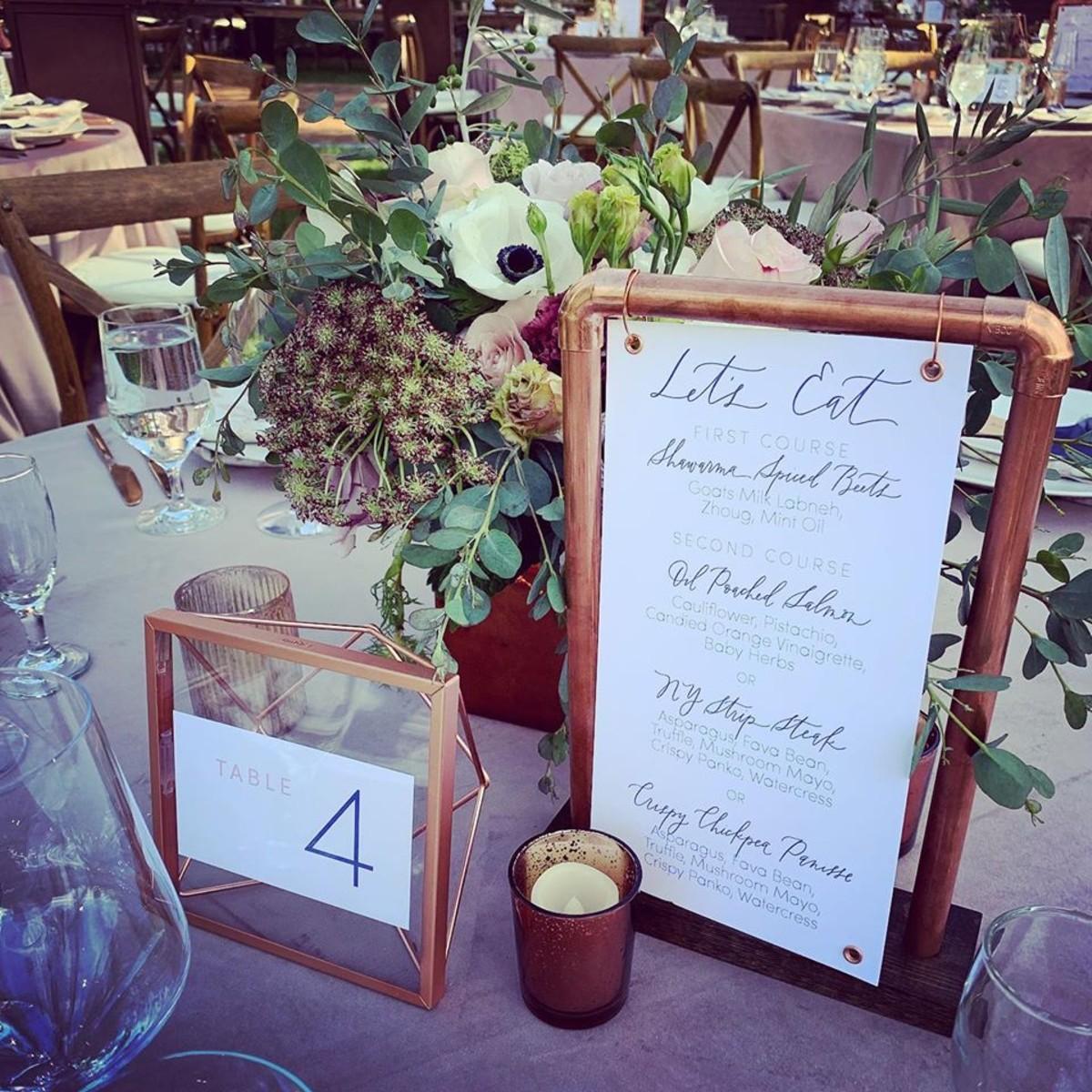 Beau & Arrow Event Co. - Lake Tahoe Wedding Planner - table signage