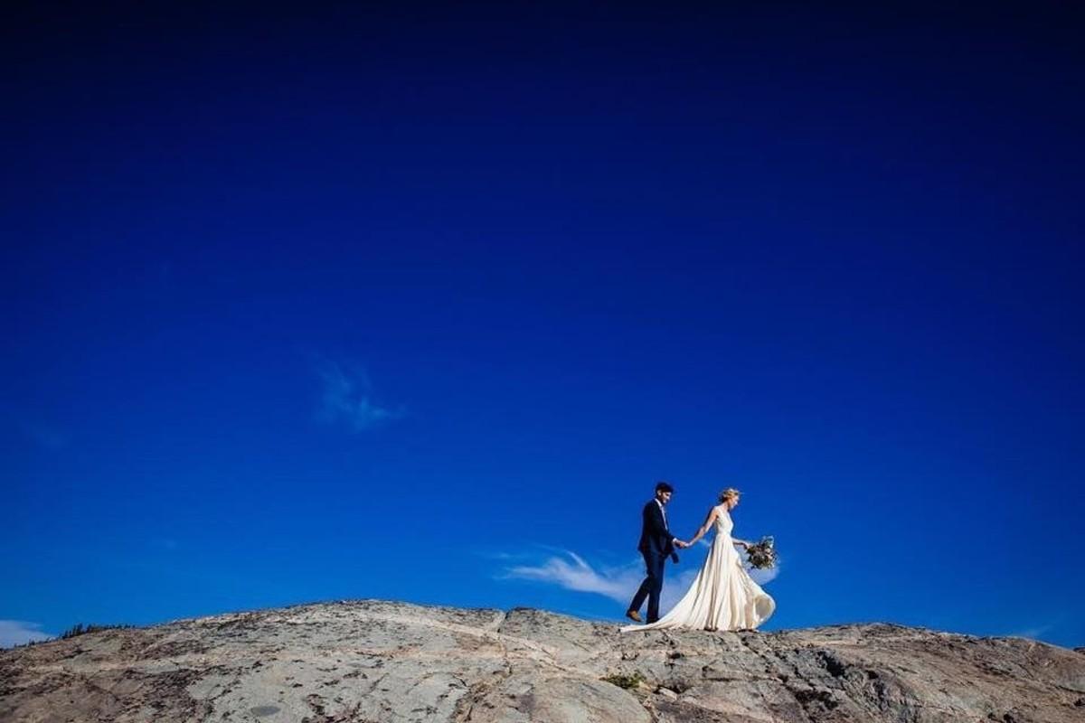 Beau & Arrow Event Co. - Lake Tahoe Wedding Planner - couple on ridge top