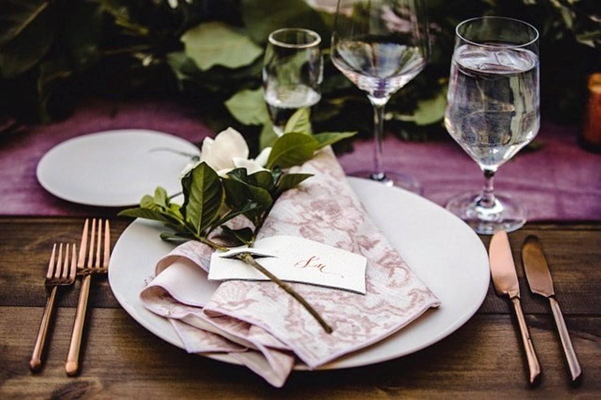 Beau & Arrow Event Co. - Lake Tahoe Wedding Planner - place setting