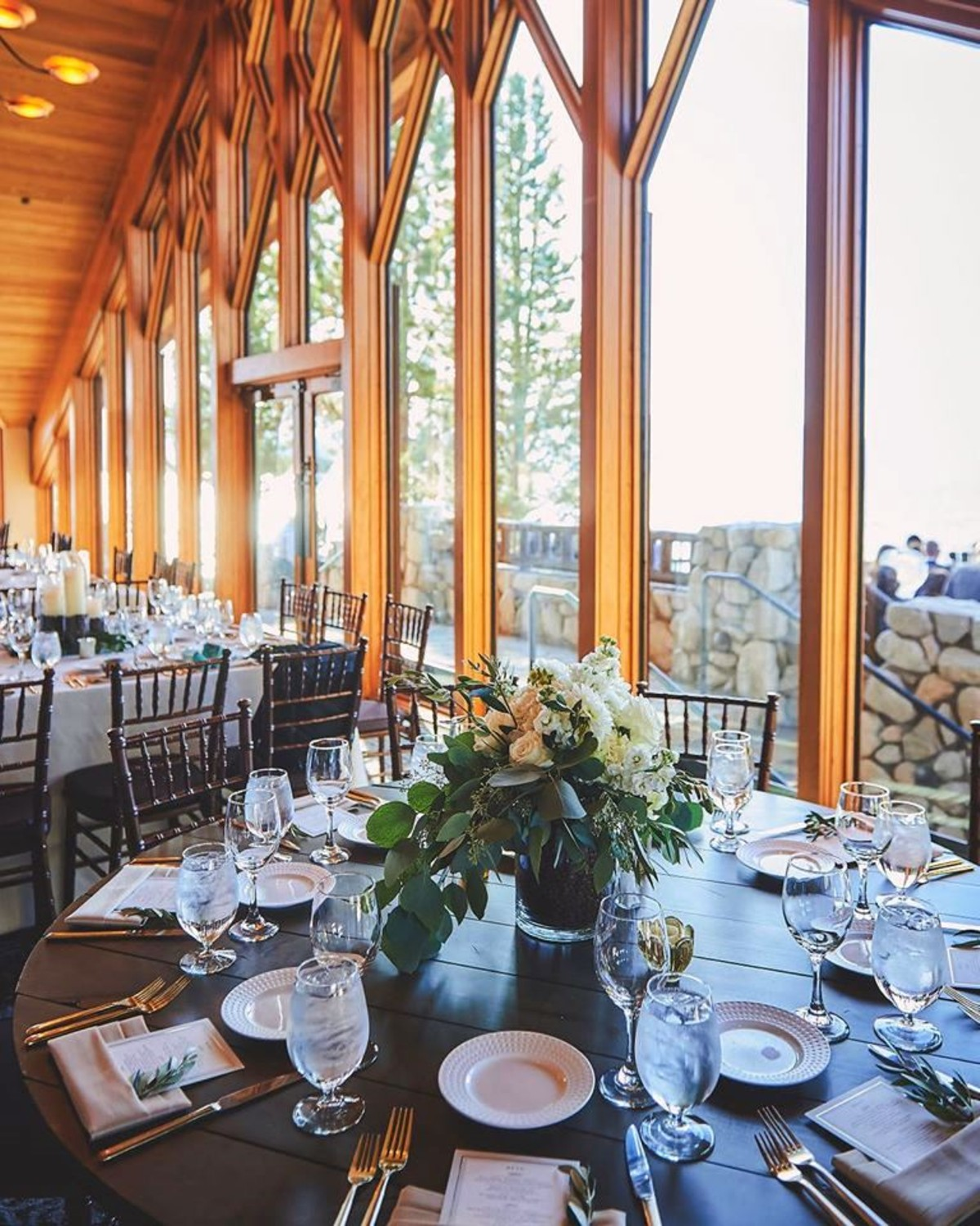 Beau & Arrow Event Co. - Lake Tahoe Wedding Planner - rustic table with view