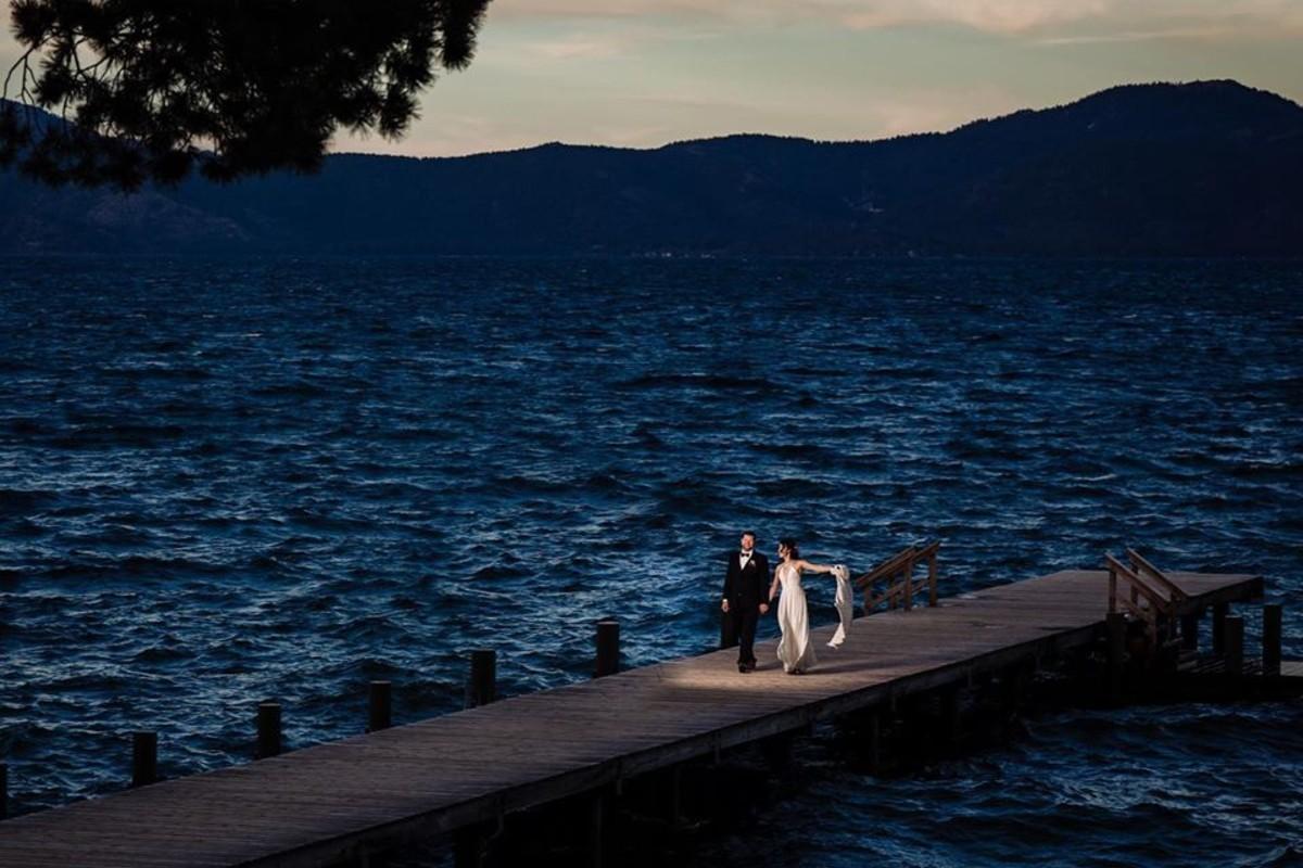 Beau & Arrow Event Co. - Lake Tahoe Wedding Planner - couple on pier