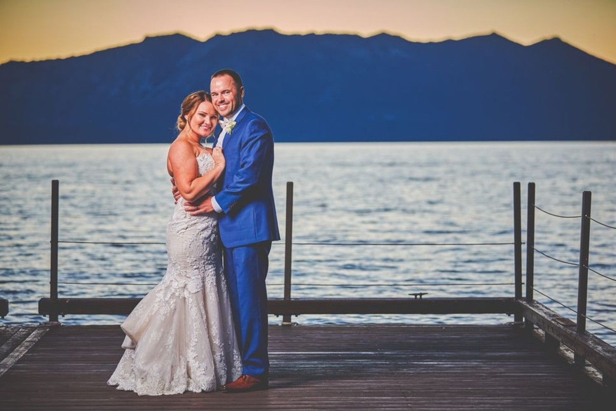Beau & Arrow Event Co. - Lake Tahoe Wedding Planner - couple on Lake at sunset