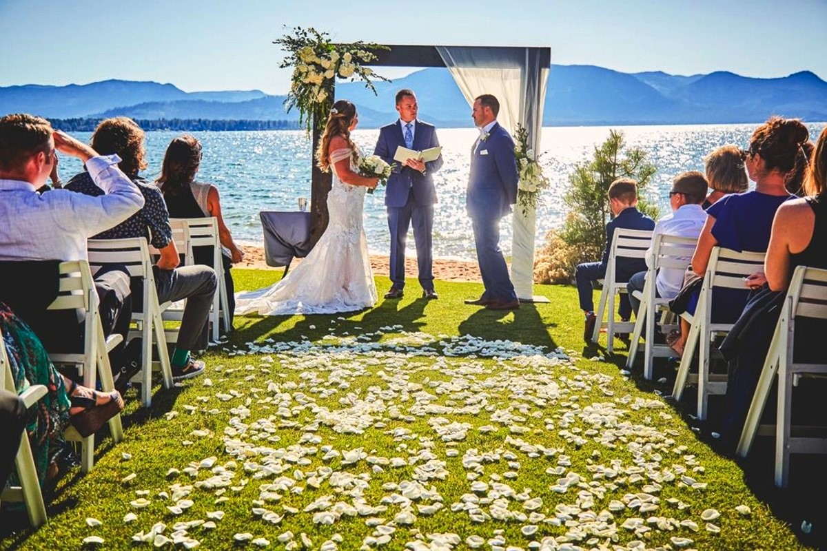 Beau & Arrow Event Co. - Lake Tahoe Wedding Planner - ceremony by the Lake