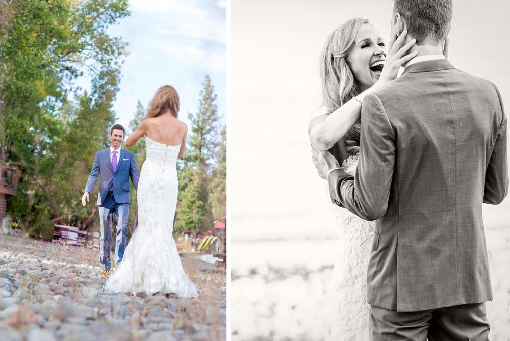 Lake Tahoe wedding First Look
