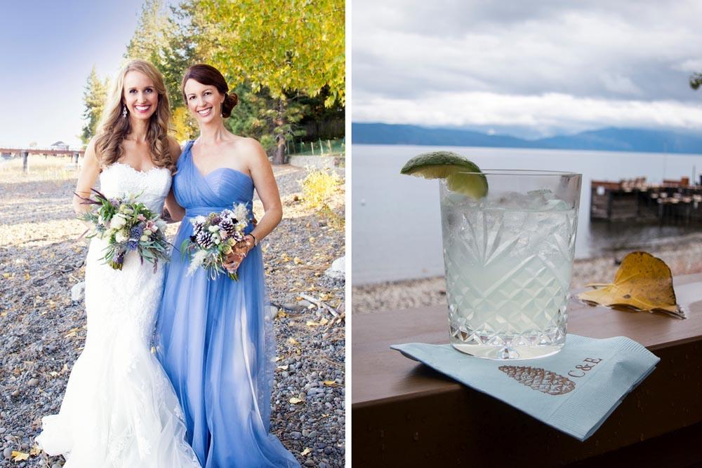 Lake Tahoe wedding Cocktail Hour