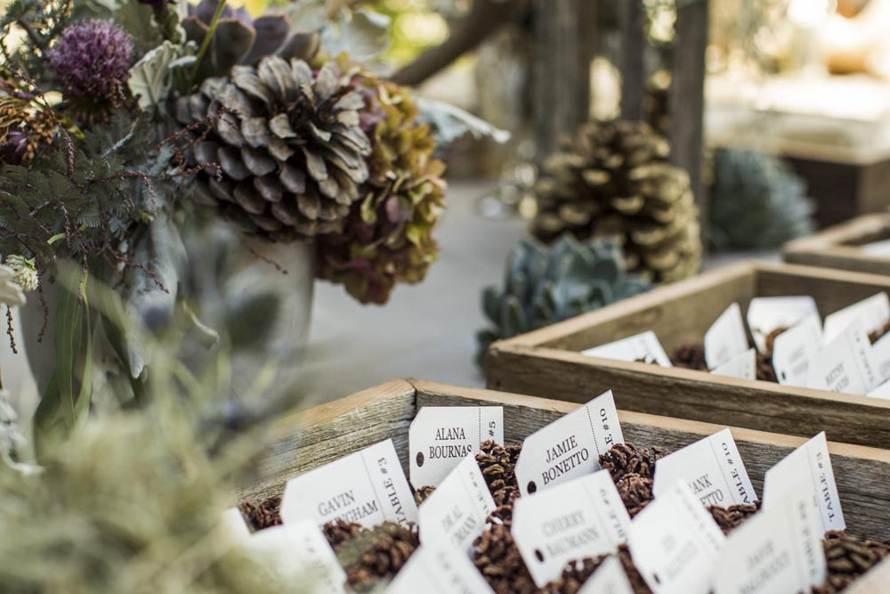 Lake Tahoe wedding Escort Cards