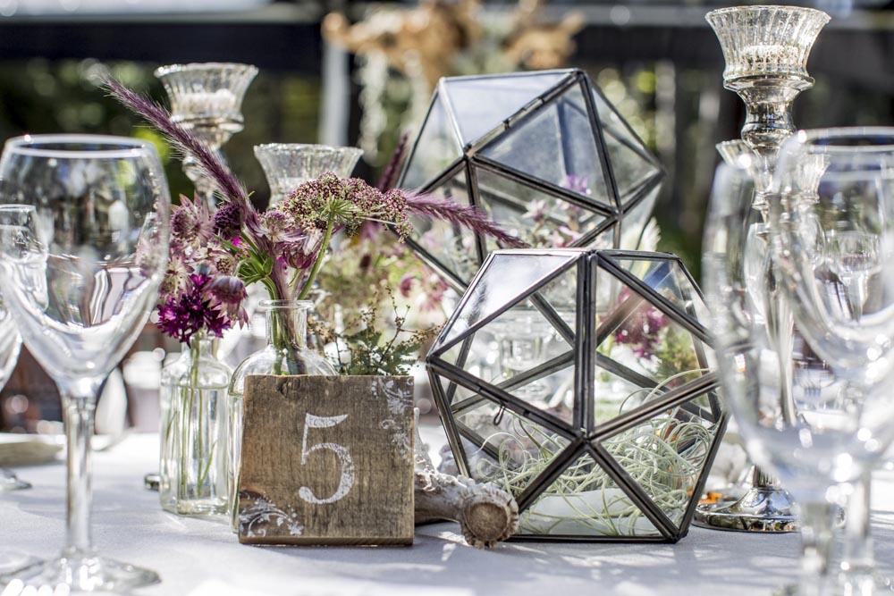 Lake Tahoe wedding table centerpiece