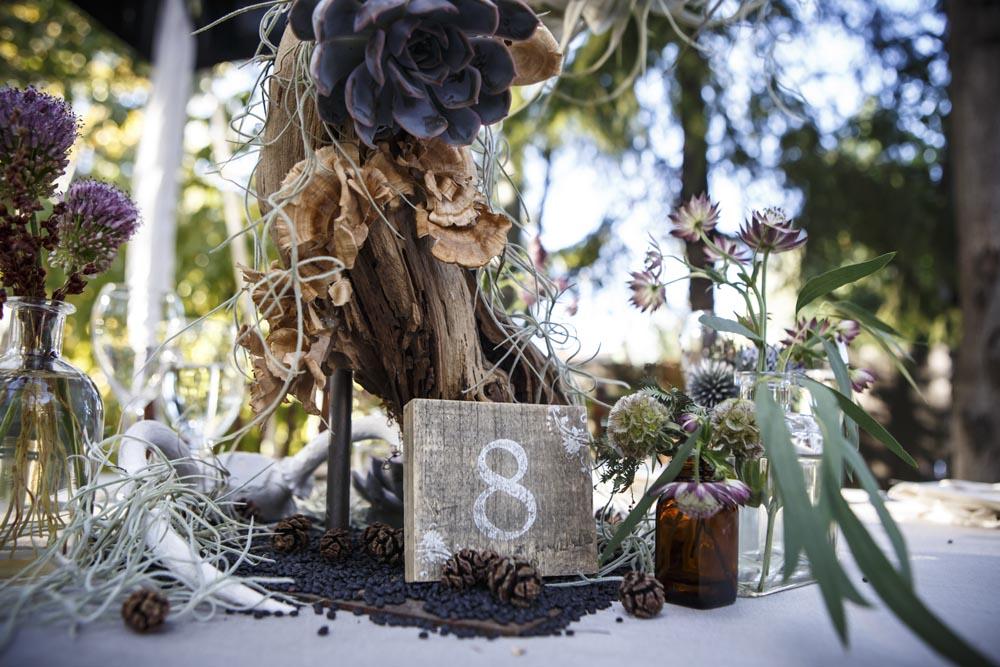 Lake Tahoe wedding table decor