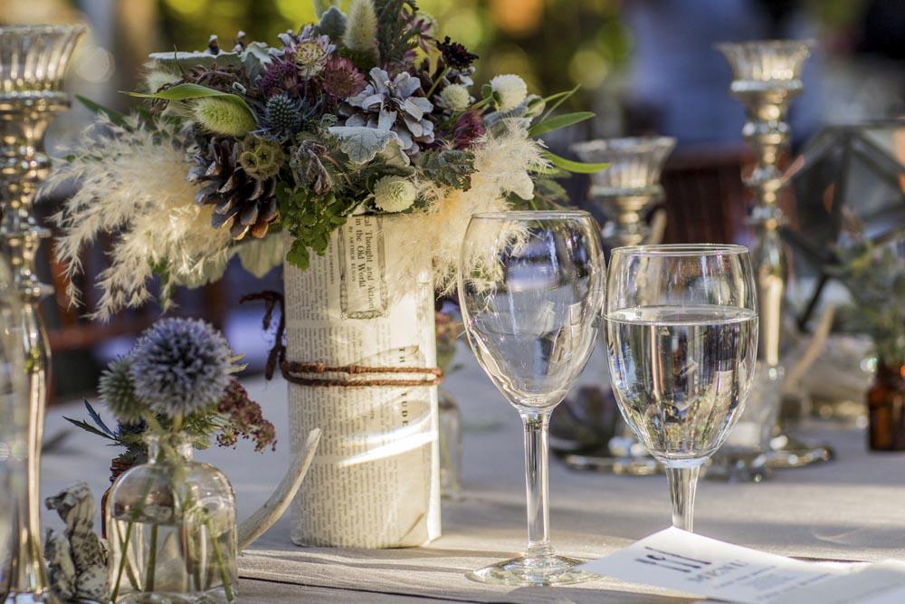 Lake Tahoe wedding table detail