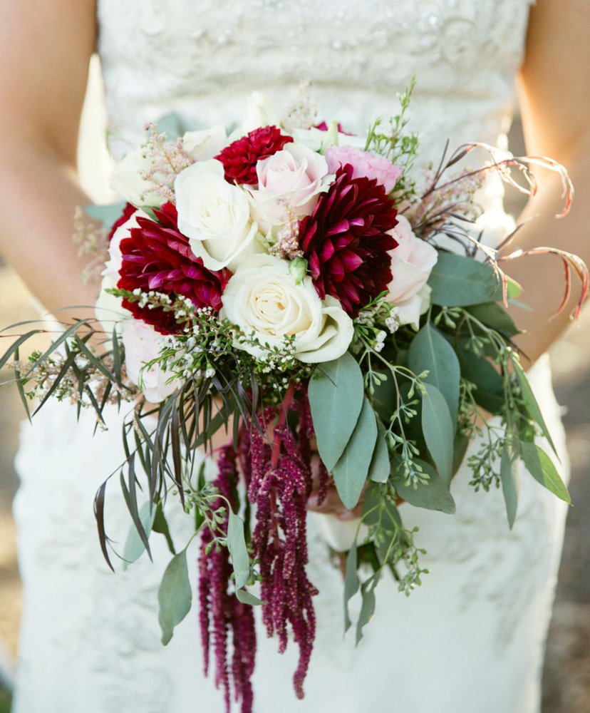 bouquet real wedding Tahoe Engaged