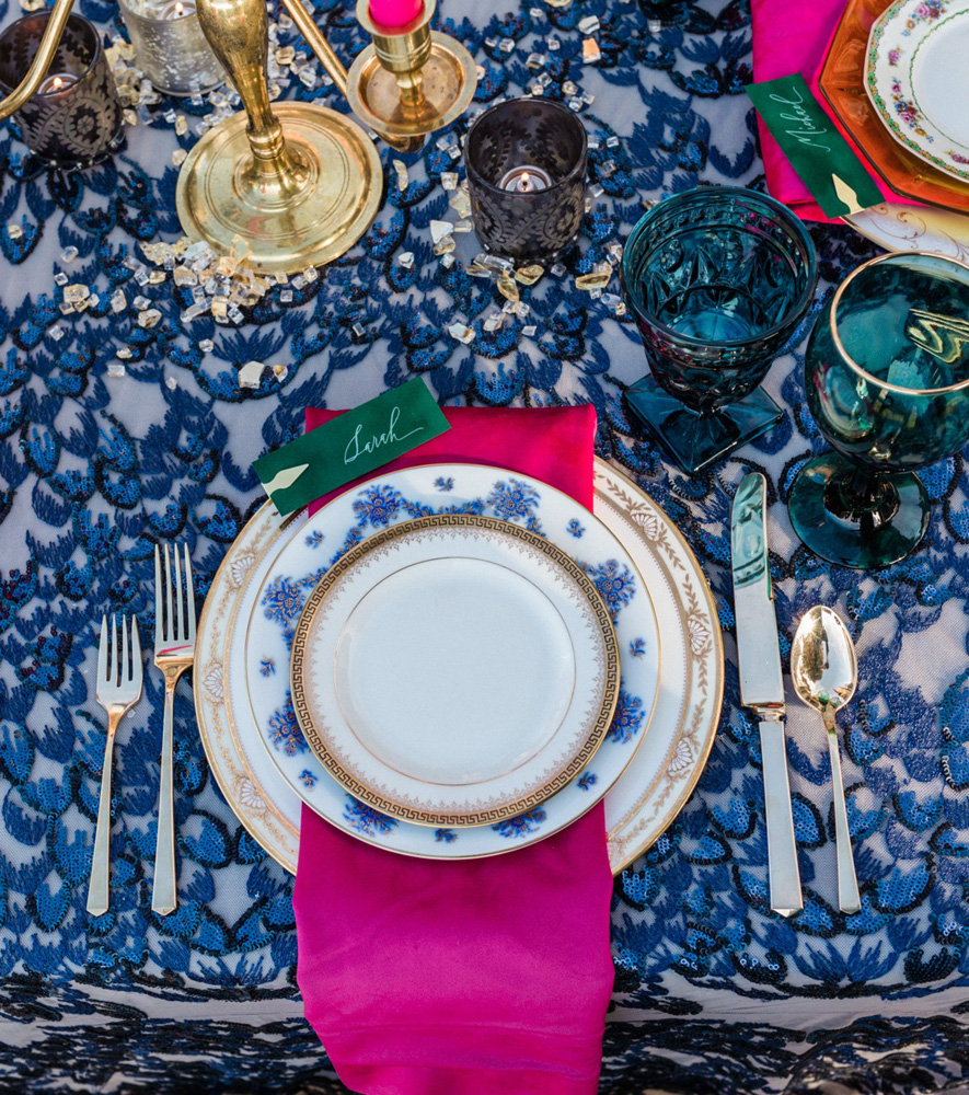 Thunderbird Lake Tahoe wedding styled shoot - place setting