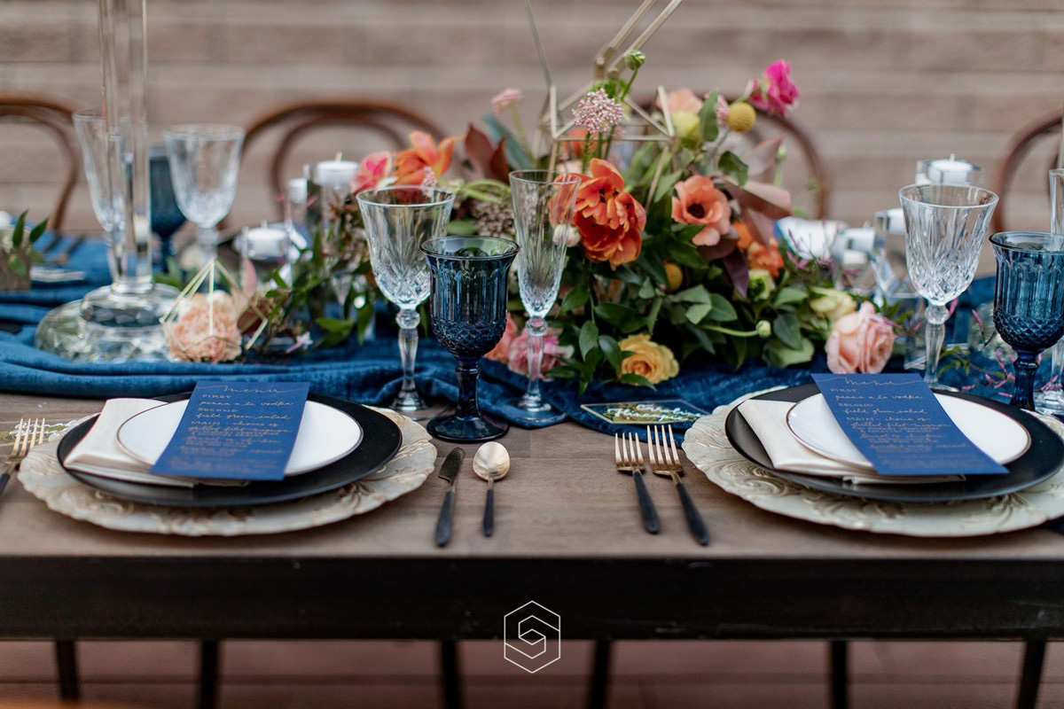 Inspirations by Gina - Lake Tahoe florist - reception table with centerpiece