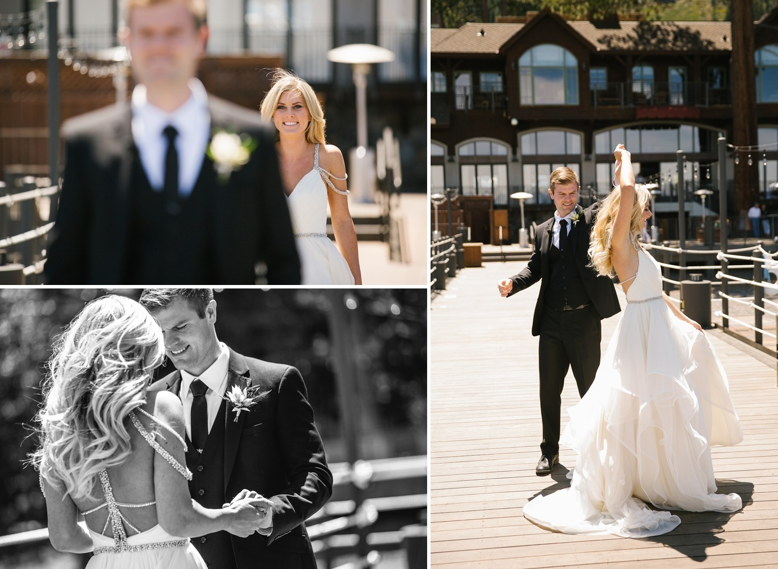 Lake Tahoe wedding The First Look