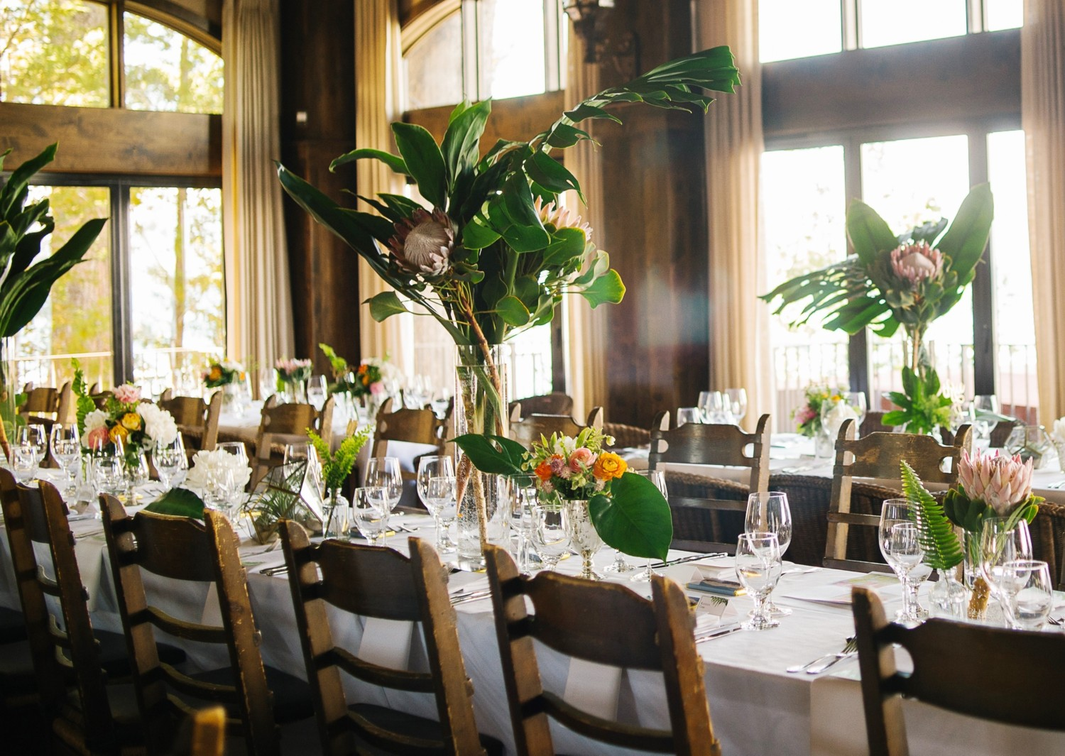 Lake Tahoe wedding Tropical Tables