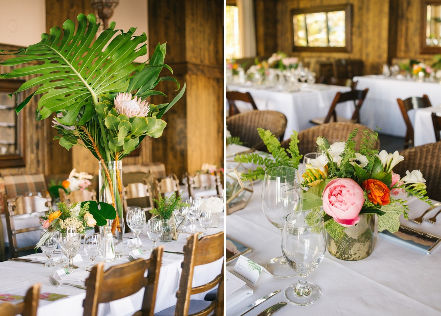 Lake Tahoe wedding Centerpieces