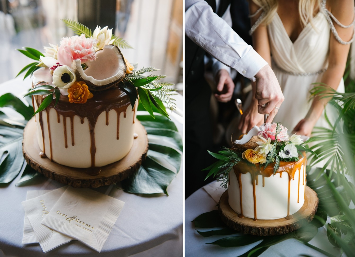 Lake Tahoe wedding Have Your Tropical Cake and Eat It Too