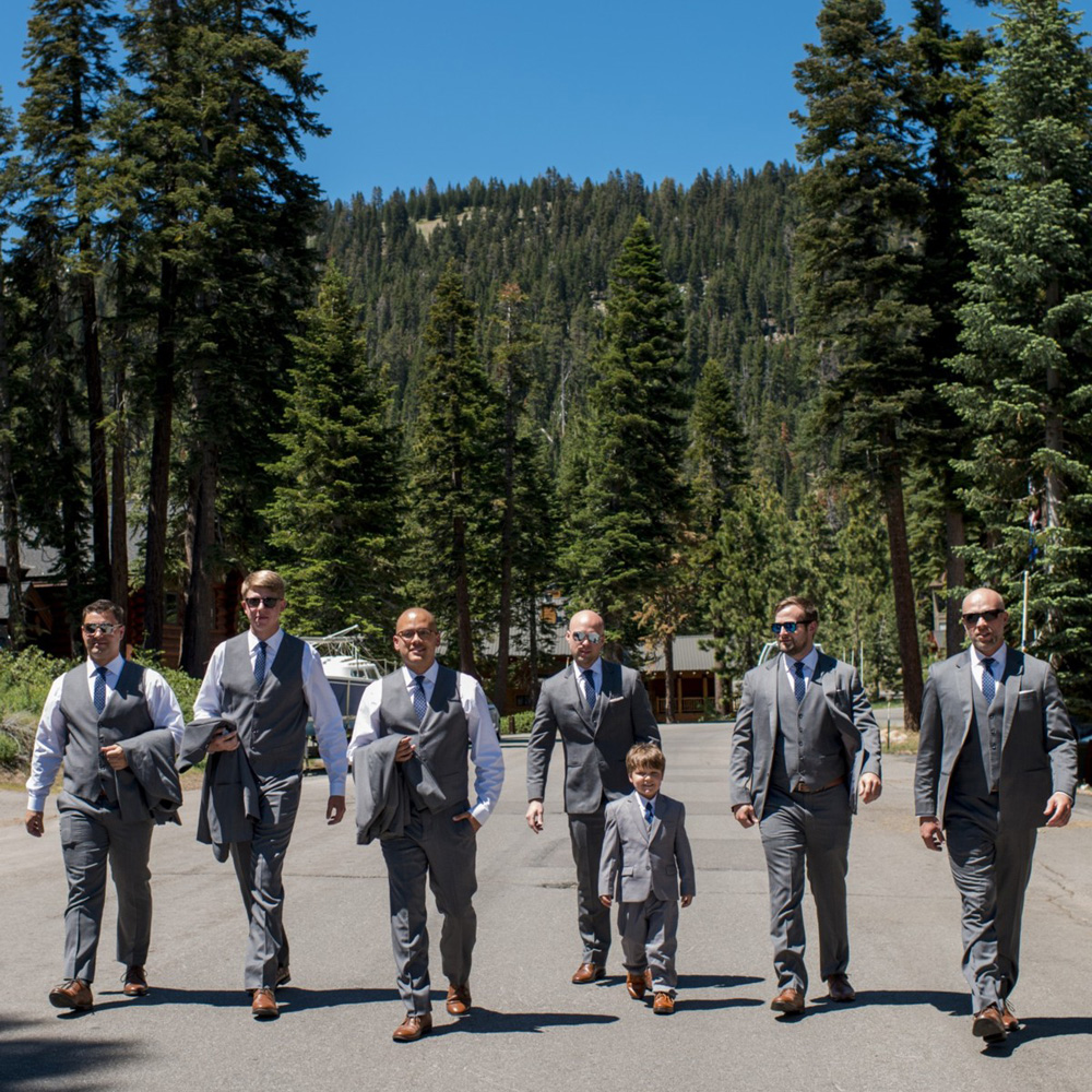 Lake Tahoe wedding at Gar Woods On the March