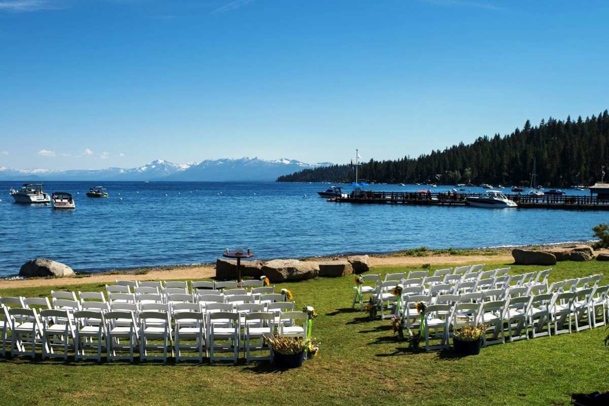 Lake Tahoe wedding at Gar Woods Ceremony Area