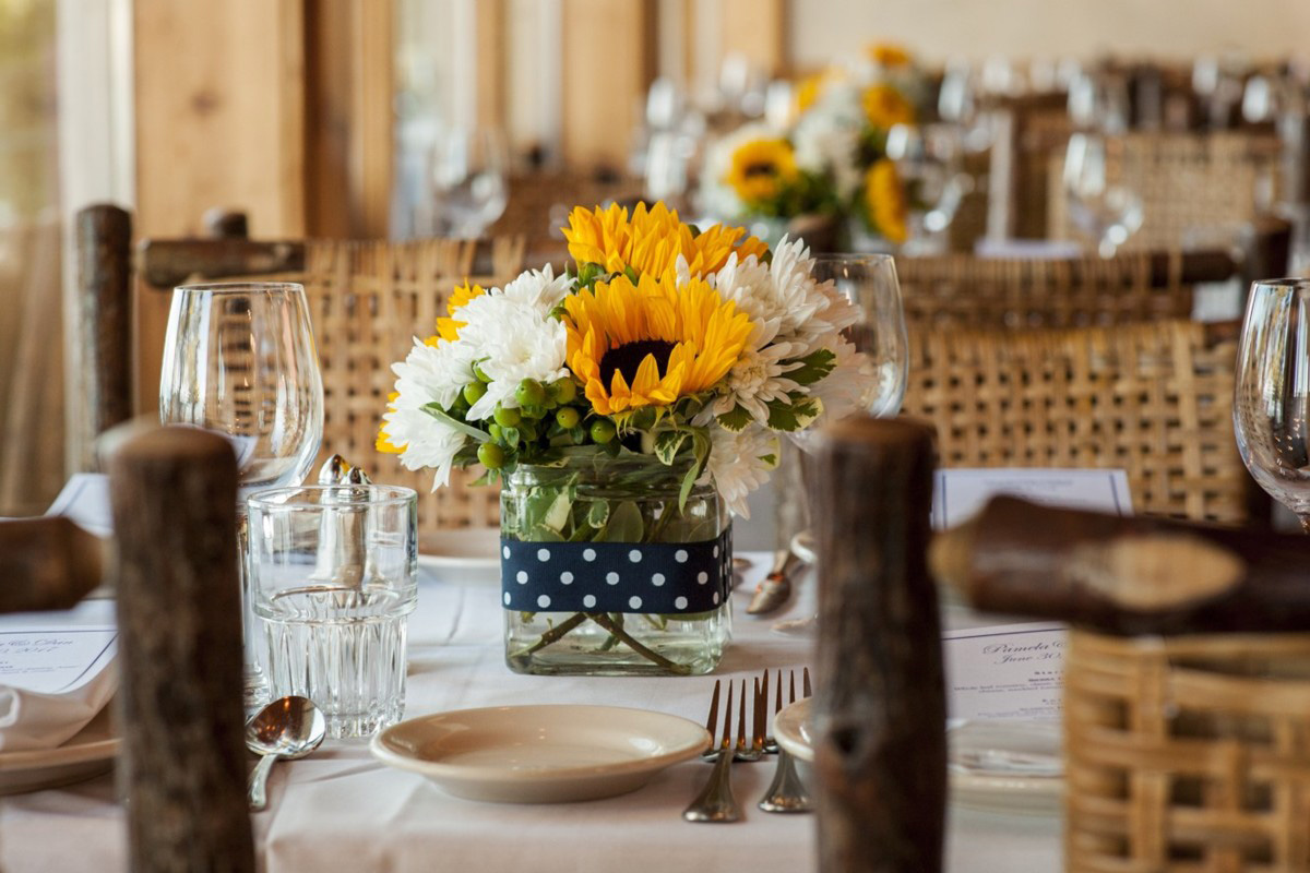 Lake Tahoe wedding at Gar Woods Table Decor