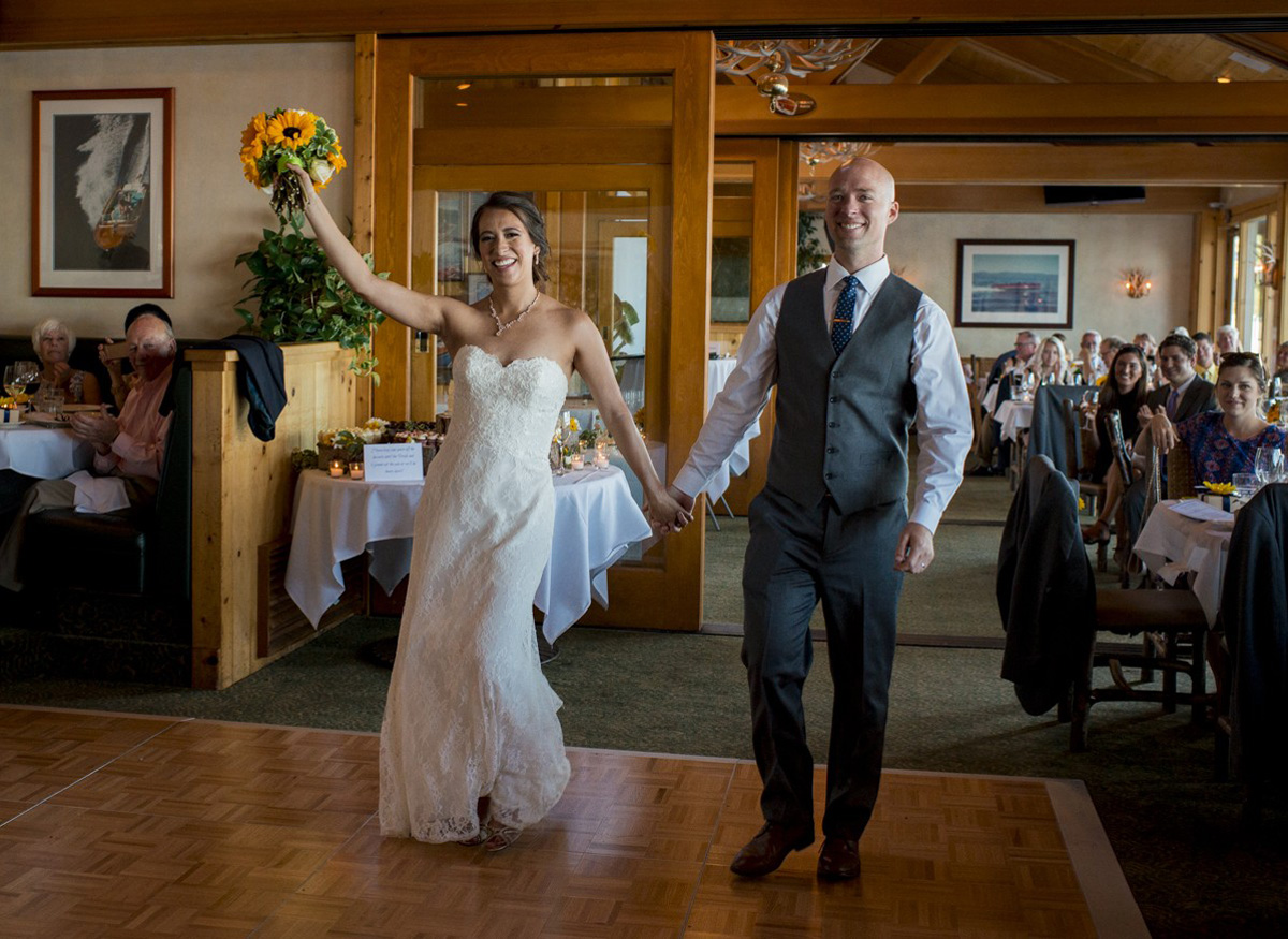 Lake Tahoe wedding at Gar Woods Couple's Grand Entrance