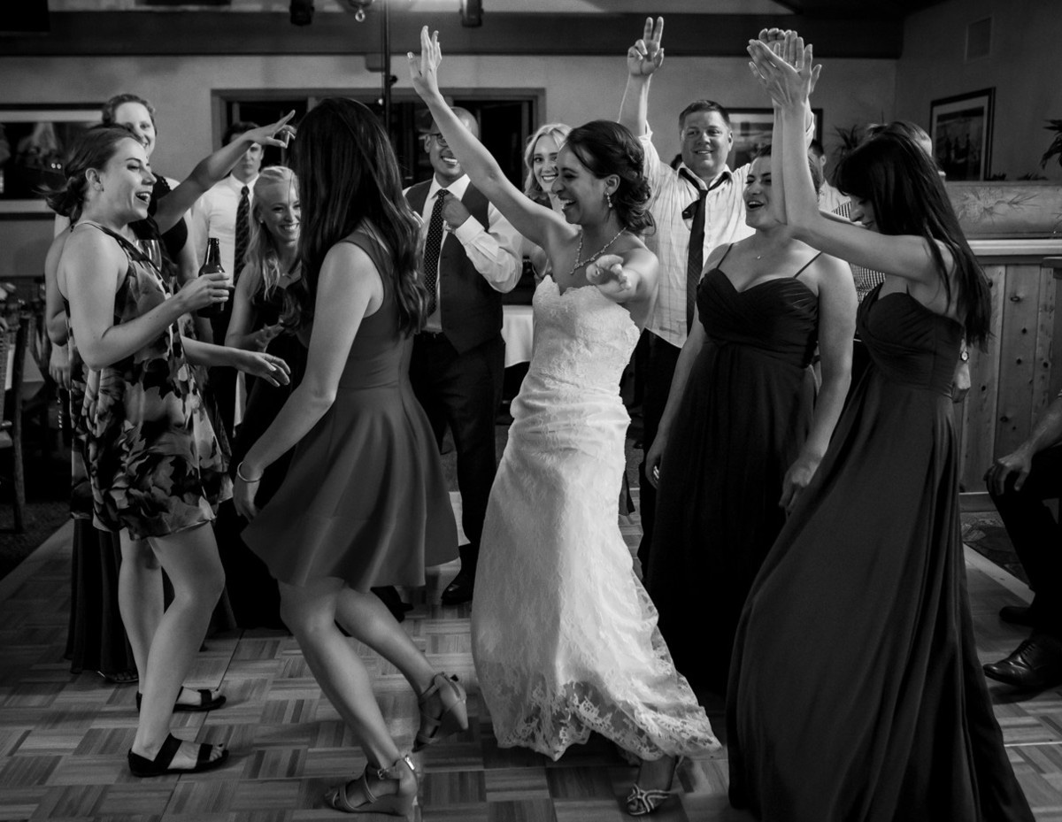 Lake Tahoe wedding at Gar Woods Ladies Dancing
