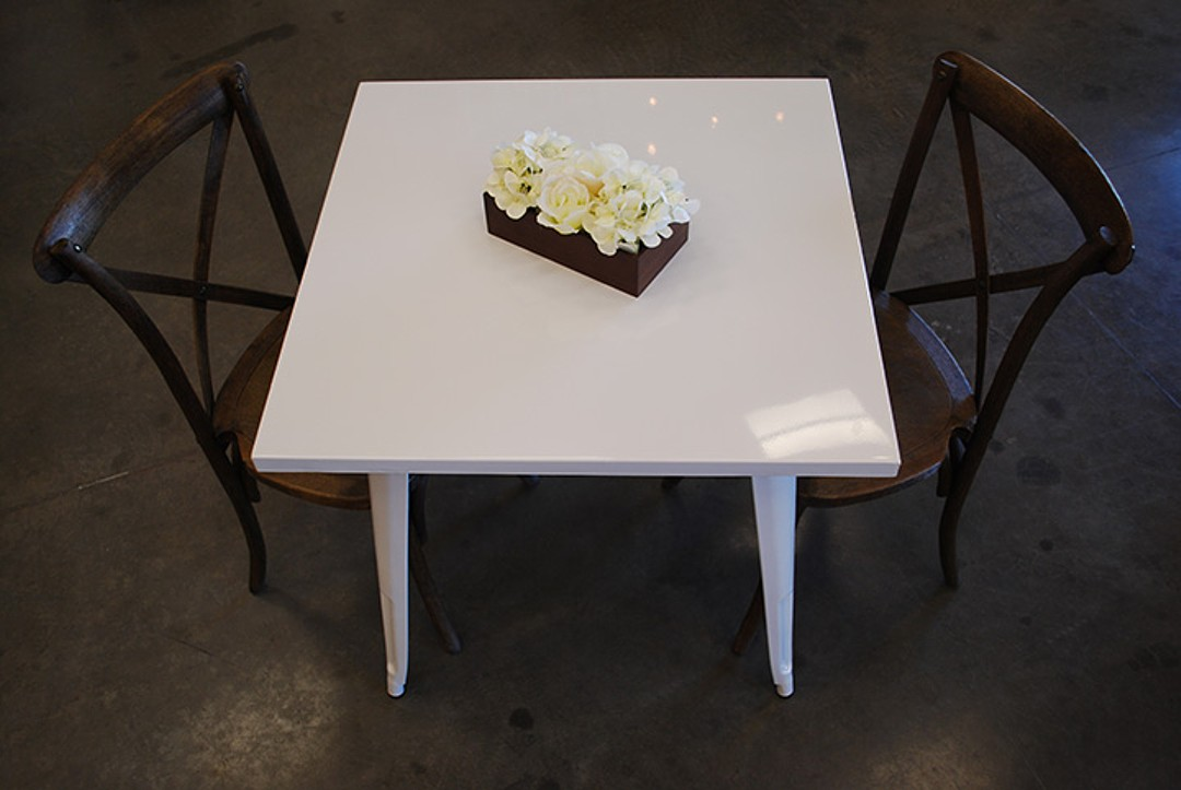 modern white table celebrations party rentals wedding furniture