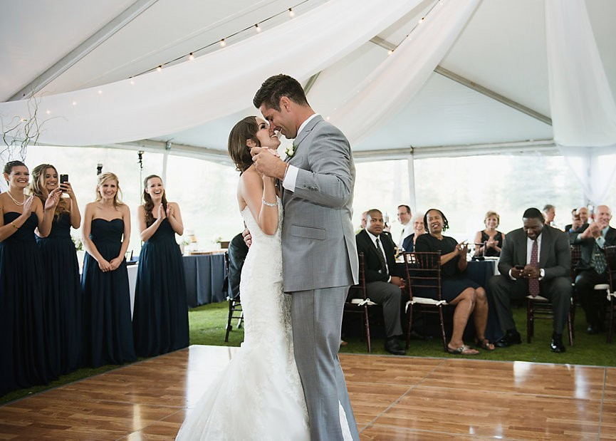 couple first dance tent Lake Tahoe wedding Celebrations Party Rentals