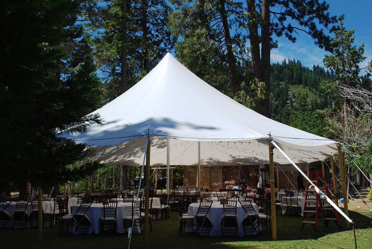 Lake Tahoe wedding reception tent rental