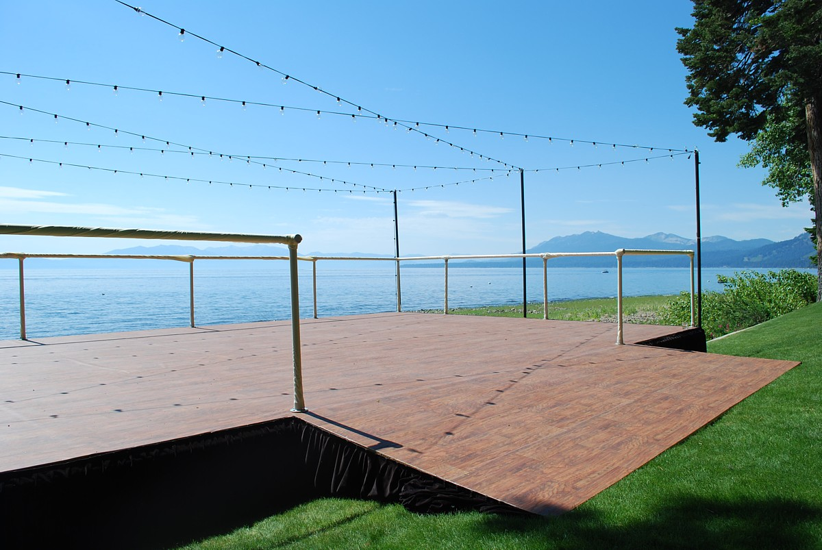 dance floor Lake Tahoe wedding celebrations rentals