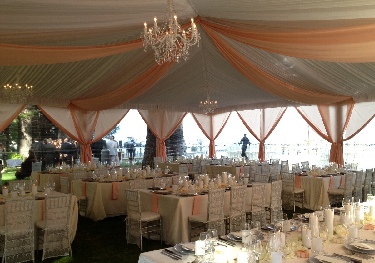 wedding reception tent Lake Tahoe Celebrations Party Rentals