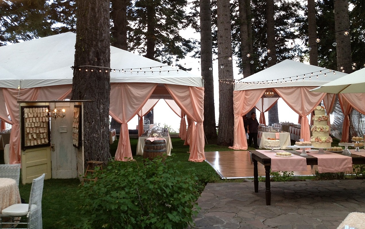 wedding tents Lake Tahoe Celebrations party rentals