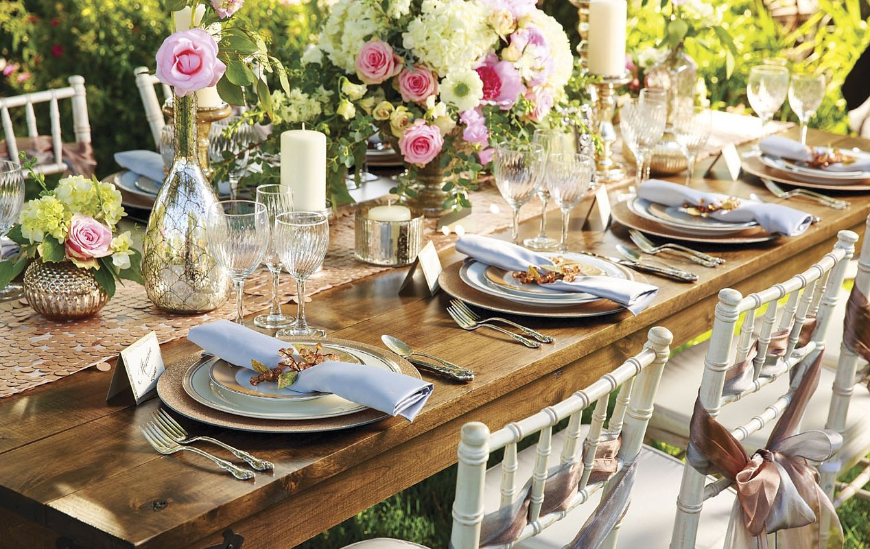 beautiful table setting celebrations party rentals wedding
