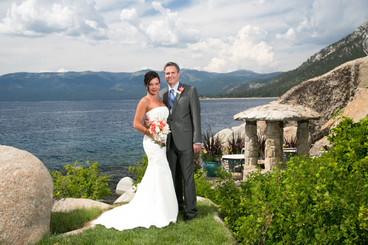 couple by water Lake Tahoe wedding planner Ceremony of Love