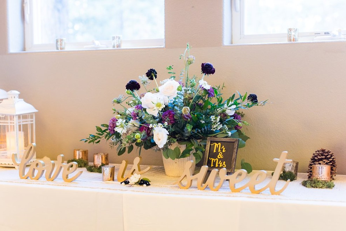 Lake Tahoe wedding florist Create With T - buffet table