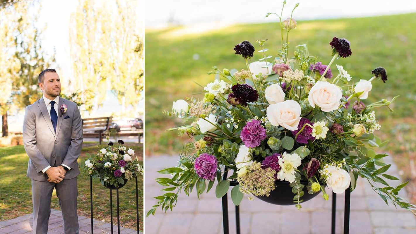 Lake Tahoe wedding florist Create With T - ceremony florals