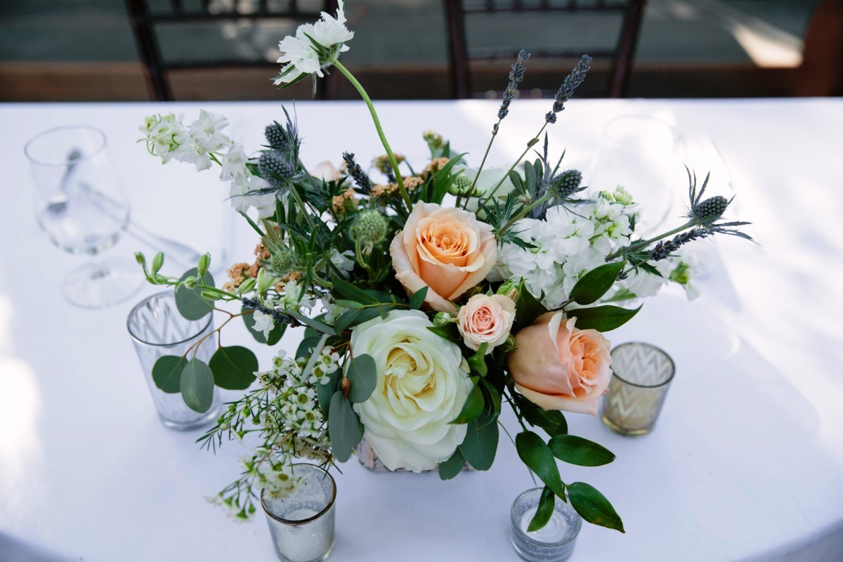Lake Tahoe wedding florist Create With T - centerpiece