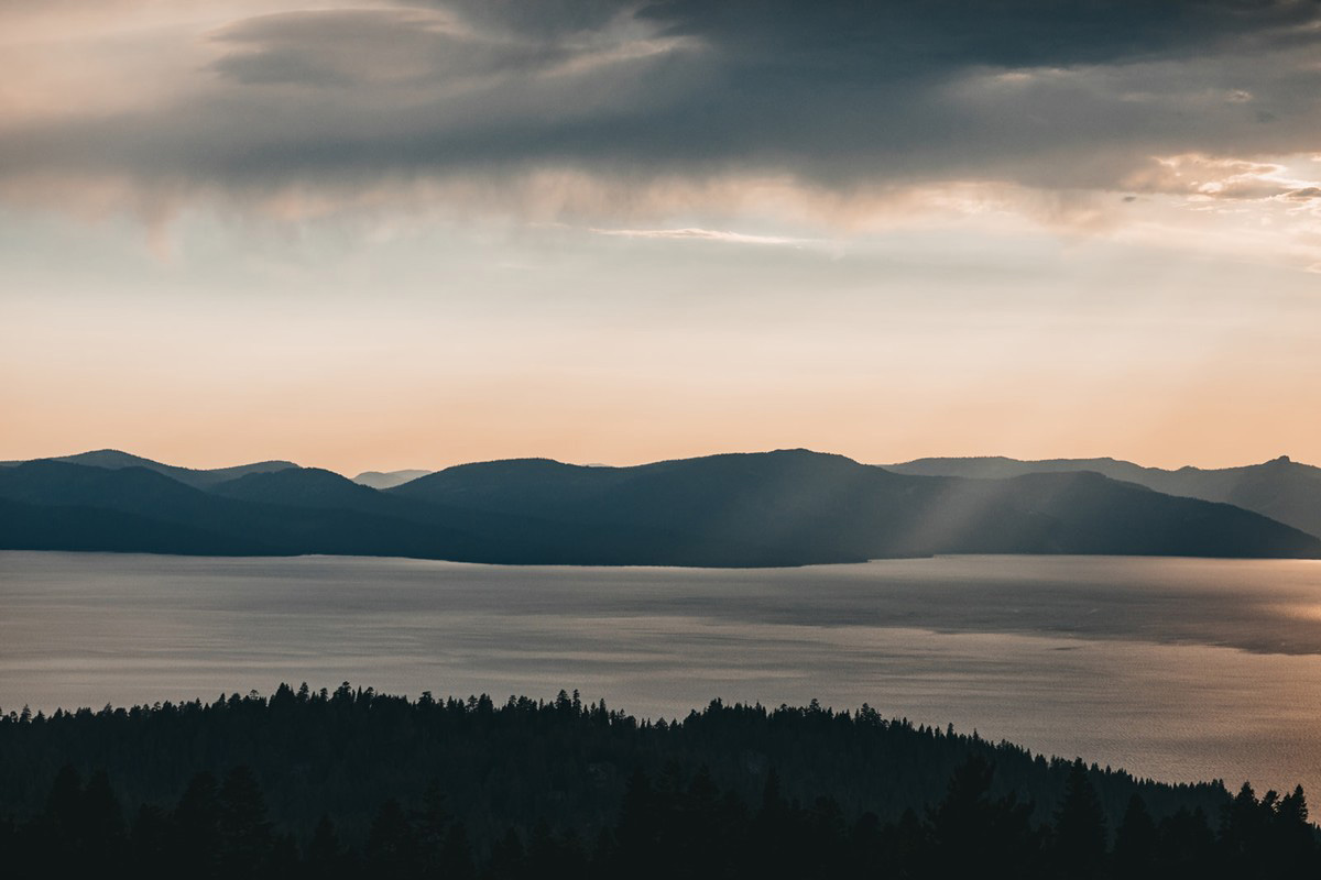Lake Tahoe Elopement - the view from the top