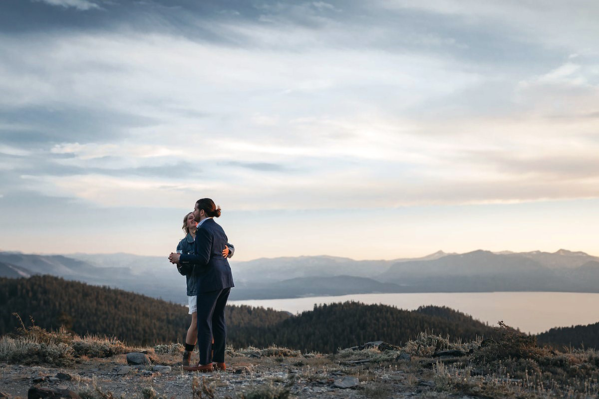 Lake Tahoe Elopement - a first dance on the mountaintop