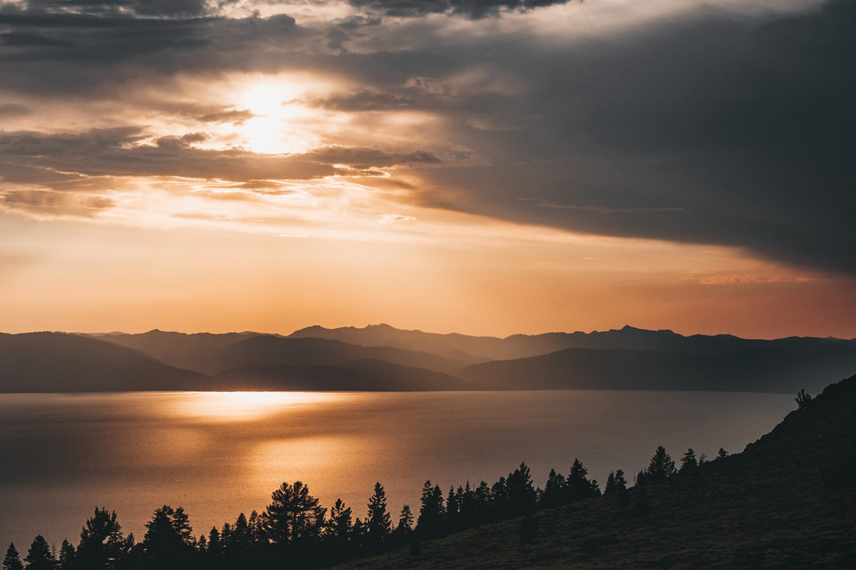 Tahoe Elopement - view of the lake before sunset