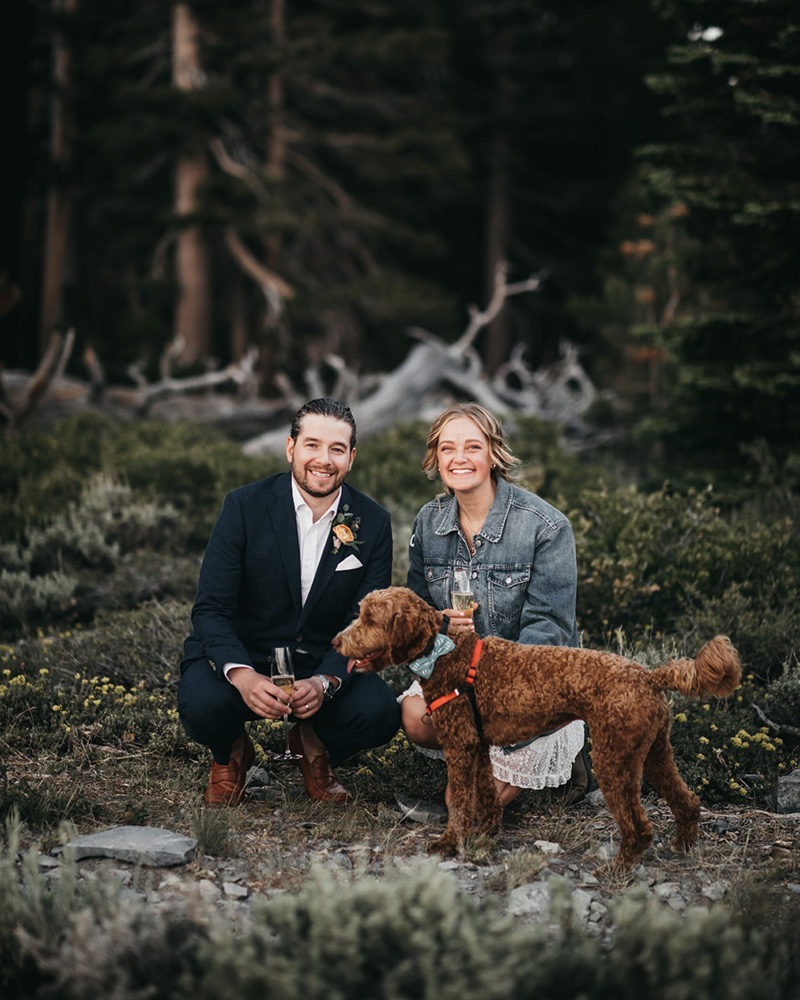 Lake Tahoe Elopement - posed photo of family