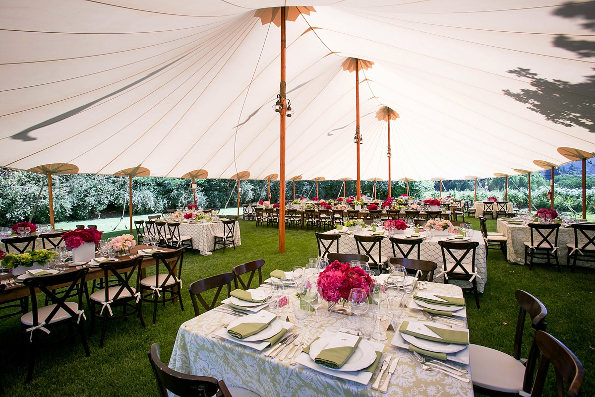 17 - Tables in Dining Tent