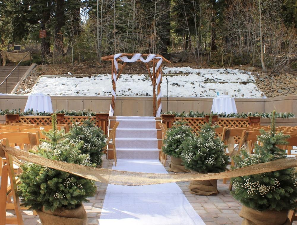 Mountain deck snowy
