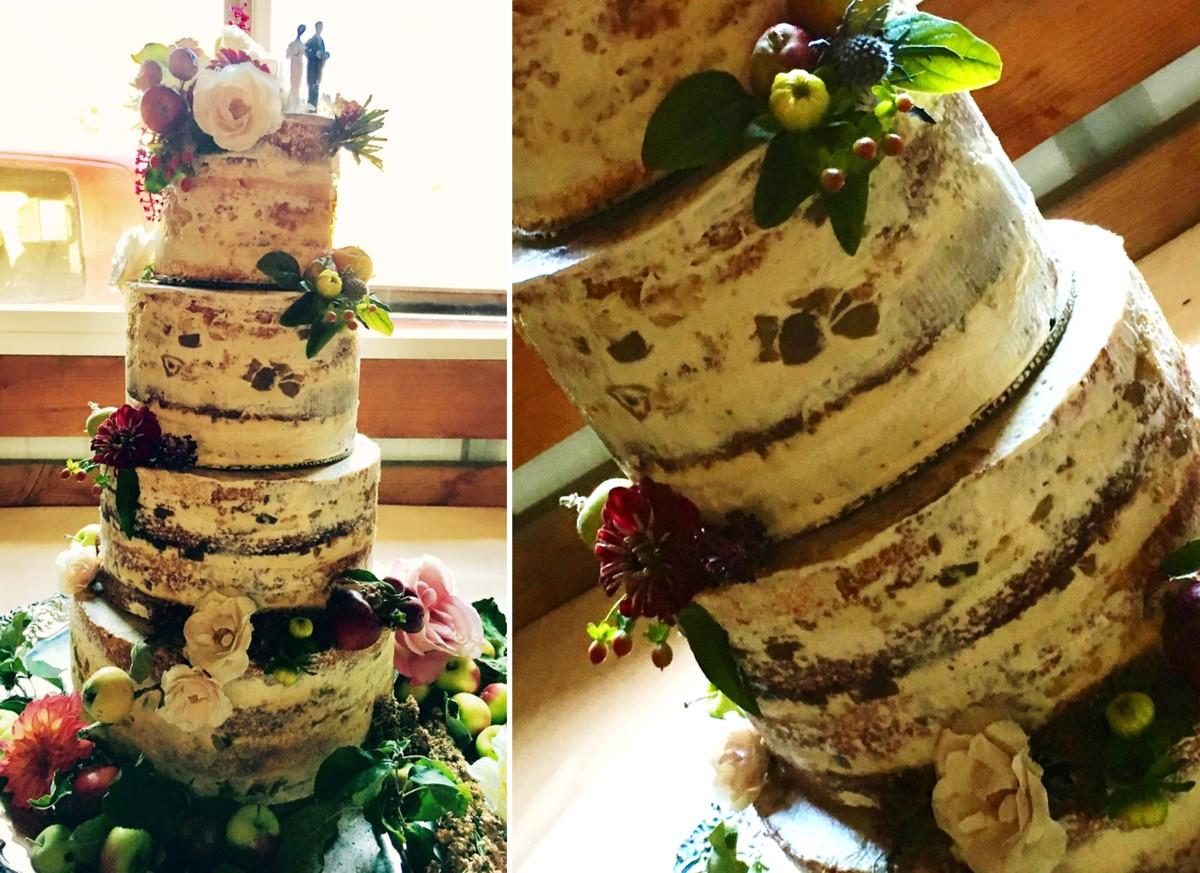 naked cake I Do's by Deb wedding Lake Tahoe